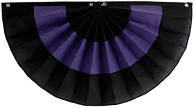 """product image for Funeral decorations by Independence Bunting - American Made Nylon Funeral Bunting! (Nylon - Black/Purple/Black, 12"""" x 24"""")"""