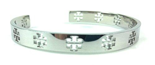 Tory Burch Pierced T Cuff (Silver)