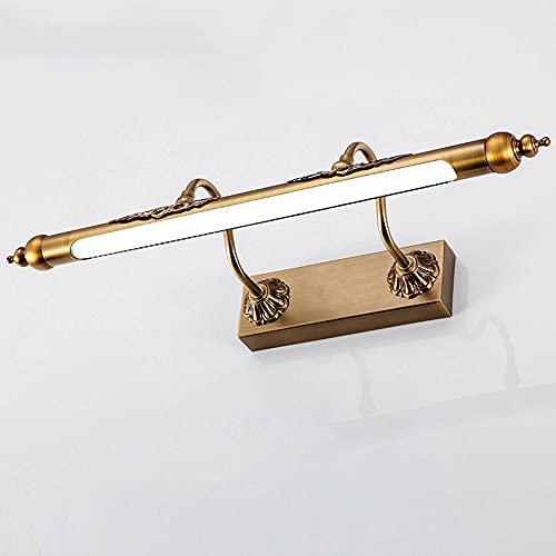 Apparecchi per illuminazione a specchio per lo specchio da bagno a vanità LED, Lampada da bagno regolabile da bagno Vintage Lampada da parete, luci rustiche di vanità Agriturismo per armadietti specch