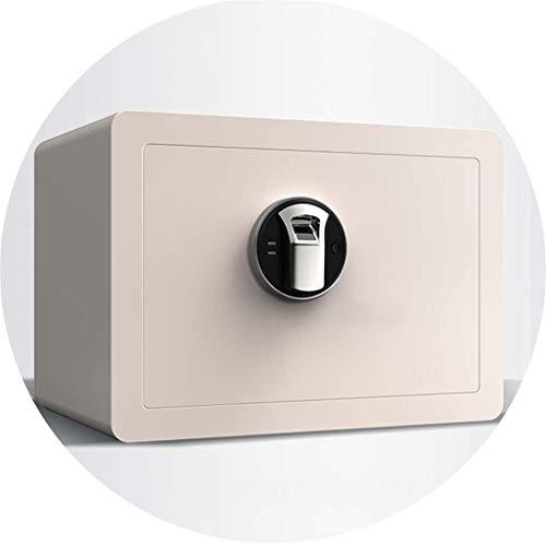 TYLZDZ Cajas Fuertes Caja De Seguridad Reconocimiento De Huellas Dactilares Pequeña De 2 Colores Que Se Utiliza En La Oficina Y El Hotel Efectivo para Joyería Seguridad Almacenamiento Invisible