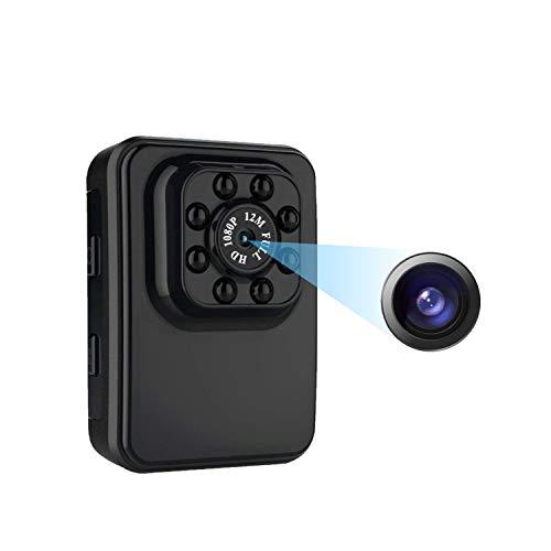 TBTUA Cámara de Seguridad Cámara Oculta con Mini cámara espía 1080P Full HD Cámaras Ocultas con detección de Movimiento/visión Nocturna para iPhone/Android Teléfono/iPad/PC, Lente Gran Angular