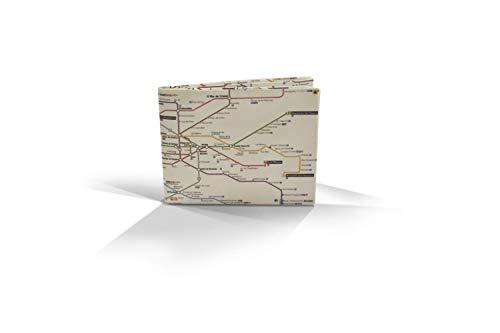 Cartera Metro Madrid Monedero diseño Metro Madrid Billetera Tyvek Origami