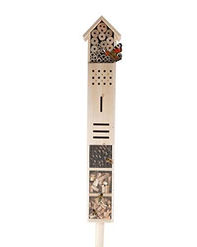 XXL Insektenhotel mit Standfuß 1,6 Meter Insektenhaus Bienenhotel Brutkasten