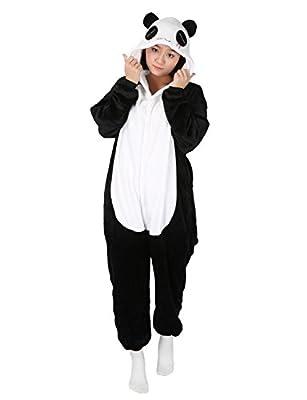 Panda Carnaval Disfraces Pijama Animales Disfraces Outfit Animales Dormir Traje Animales OneSize Sleepsuit con Capucha Adultos Unisex de Forro Polar Mono Disfraz (M, Panda-1)