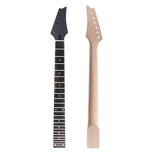 Cabeza de arce para guitarra eléctrica, diapasón de palisandro de 24 trastes para repuestos IBZ