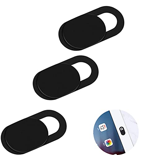 Mitening 3er-Set Webcam Abdeckung, Slider Camera Cover Ultra dünne Webcam Cover Privacy-Schutz Kamera Abdeckung für Laptop, PC, MacBook, iMac, Computer, iPad, Smartphone (Schwarz)