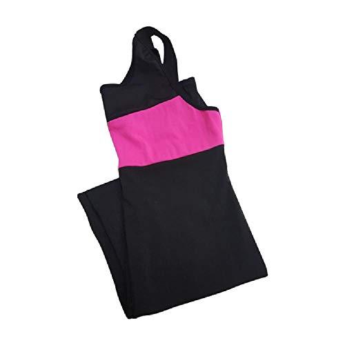 NHFGF Fitness-Sportanzug für Damen, Yoga-Set, rückenfrei, Sportbekleidung, Enge Jumpsuits, Workout, Sportbekleidung Gr. L, einfarbig