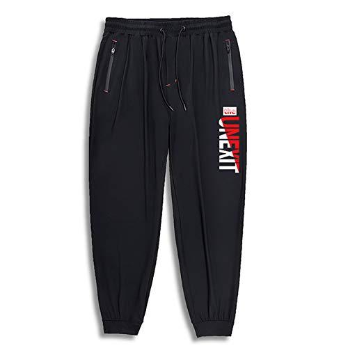 Pantalones Harem Estampados Sueltos para Hombre, Pantalones Casuales de Cintura elástica cómodos para Correr de Gran tamaño, Verano 4XL