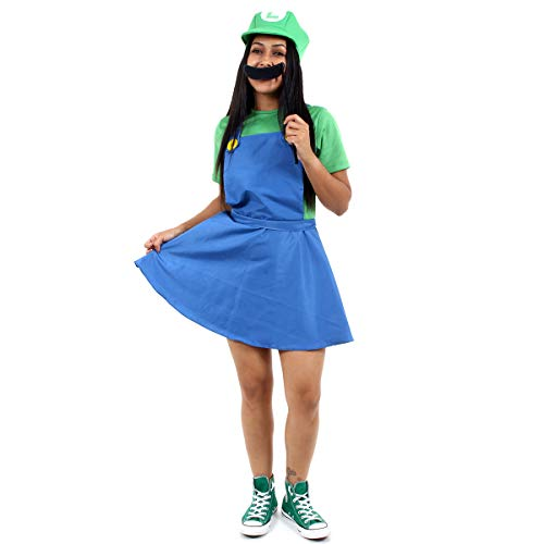 Luigi Feminino Vestido - Heat Girls Adulto 960237-M
