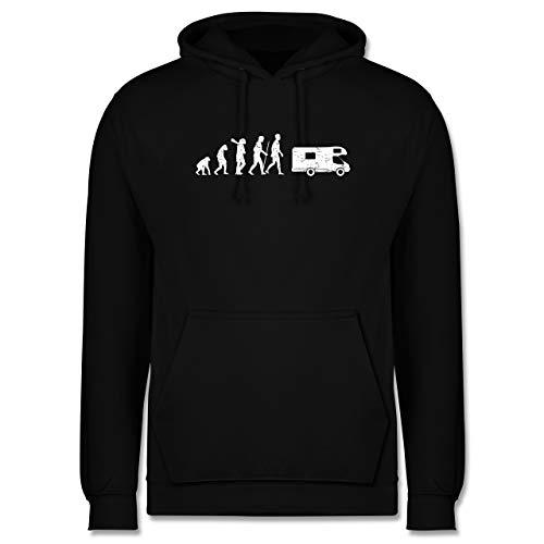 Evolution - Evolution Camper weiß - 3XL - Schwarz - Camper - JH001 - Herren Hoodie und Kapuzenpullover für Männer