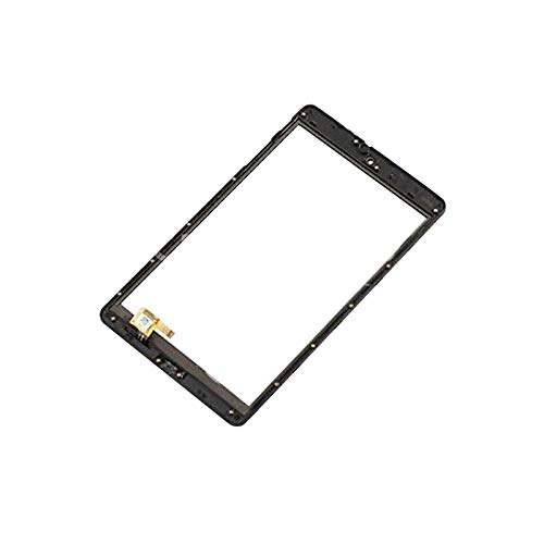 Digitizer Touch Screen (Without LCD Display) Replacement Panel with Frame Compatible with Alcatel ATT Trek HD 9020A POP 8 LTE 9021A 8 inch Tab (Black)