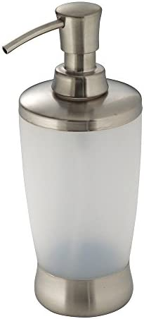 InterDesign Lusso Liquid Soap Lotion Dispenser Pump for Kitchen or Bathroom Countertops Frosted product image