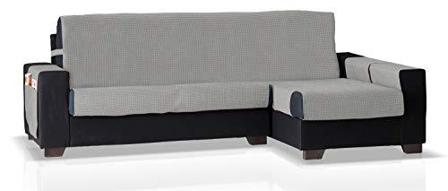 JM Textil Cubre Chaise Longue GEA Brazo Derecho, Tamaño Normal (245 Cm.), Color Gris