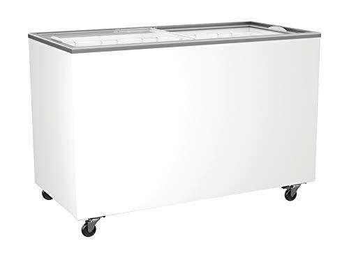 Tiefkühltruhe mit Glasschiebedeckel 416 Liter Tiefkühltruhe Gefriertruhe Kühltruhe Truhe 1314 x 653 x 904 mm
