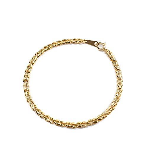 純金 ブレスレット K24 ラン 18cm 2g リバーシブル