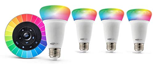 Caliber Audio Technology HRL101KIT - Juego de 4 bombillas LED (EEC: C (A++ - G) Tuya, Conrad Connect