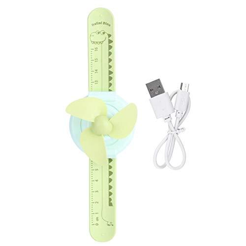 Pwshymi Ventilador de muñeca Innovador Ajustable para niños para Regalo(Green, Pisa Leaning Tower Type)