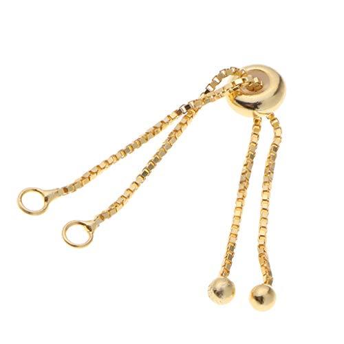 Sharplace 1 Stück Verlängerungskette Kettenverlängerung Basteln - Gold