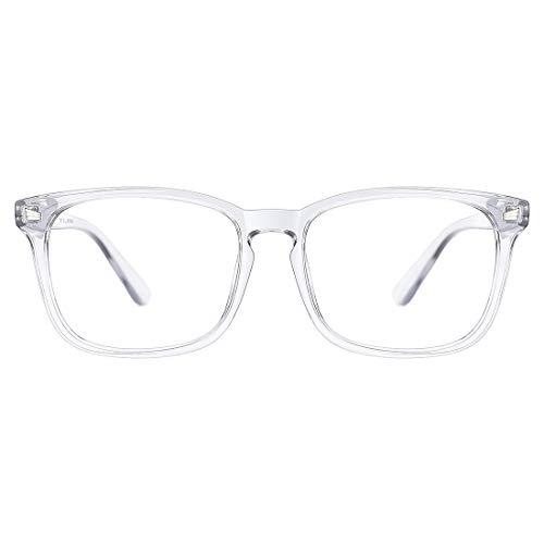 TIJN Blaulichtfilter Nerdbrille Optische Brille Ohne Sehstärke Retro Klare Linse Brille Damen Herren