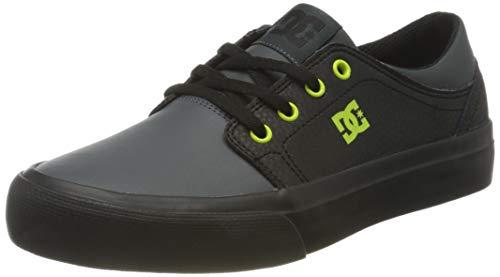 DC Shoes Trase, Zapatillas Niños, Black/Yellow, 29 EU