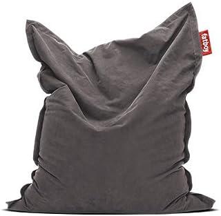 Fatboy® The Original Stonewashed Pouf Poire Bean Bag/Coussin/Fauteuil/canapé d'intérieur XXL | Gris | 180 x 140 cm