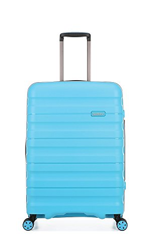 Antler Juno II Brights, Durable & Lightweight Hard Shell Suitcase - Colour: Turquoise, Size: Medium