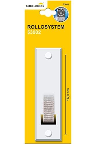 Schellenberg 53002 Placca tapparelle avvolgibili STANDARD Maxi: 23 mm di larghezza del nastro, piastra tapparella con spaziatura dei fori 16 cm, bianco