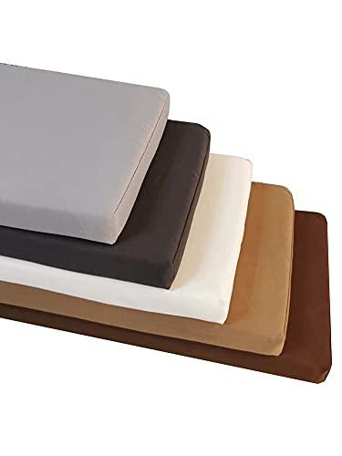 Wuwei - Cuscino per sedia a dondolo lungo, impermeabile, a 2 posti, in schiuma, per esterni, 2 posti