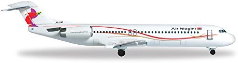Herpa 527460 Air Niugini Fokker 100 P2-AND 1 500 Diecast Model by Herpa