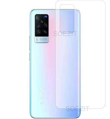 Soezit Back Screen Guard for Vivo X60 5G, TPU Clear Soft Anti-Scratch Back Film