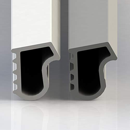 Stahlzargendichtung Stahlzarge Dichtung Türdichtung Zimmertür 5m Länge grau weiß 5 Meter Weiß