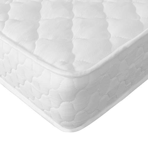 MonHouse Materassi a una piazza, matrimoniale o king size Materasso memory foam foam a molle medio - Wave Pattern - White - Dimensione europea Kind Size (160 x 200 x 23cm)