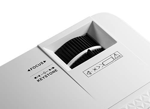 Technaxx TX-113 Mini LED Beamer Mini Proyector LED Portátil con Reproductor Multimedia, Blanco miniatura