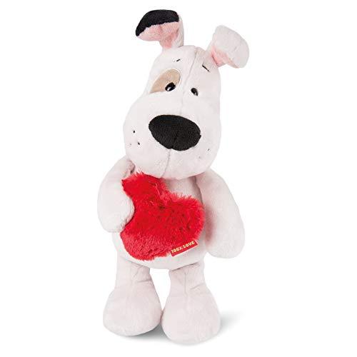 NICI 46077 Kuscheltier Love Hund 27cm, aus Plüsch, süßes Stofftier für Kinder und Kuscheltierliebhaber, 27 cm