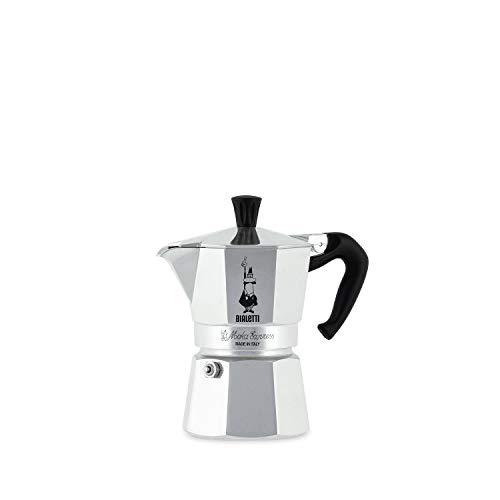 Bialetti Moka Express Espressokocher, Aluminium, Silber, 1 Tasse
