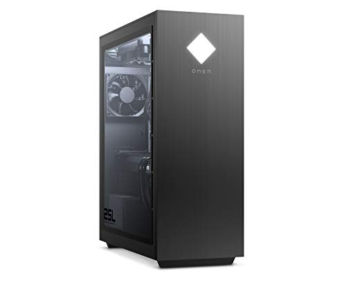 HP OMEN GT12-0009ng Gaming Desktop (AMD Ryzen 9-3900, HyperX XMP 16GB DDR4 RAM, 1TB HDD, 512GB SSD, Nvidia GeForce RTX 2060 Super 8GB GDDR6, Windows 10) schwarz mit Seitenfenster
