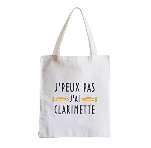 Fabulous Grand Sac Shopping Plage Etudiant J'Peux Pas J'ai Clarinette Instrument Vent Classique