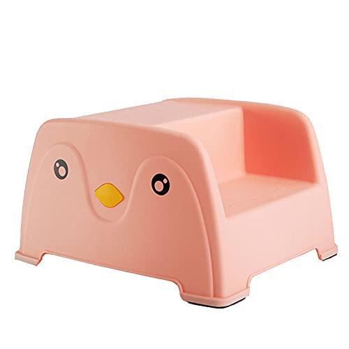 XYW Poggiapiedi per Bambini - Piccola Panca Antiscivolo Steping Step Sgabello per Bambini Tavolo per Bambini Step Step Sgabello per Bambini Lavaggio Step Mat (Color : Pink)