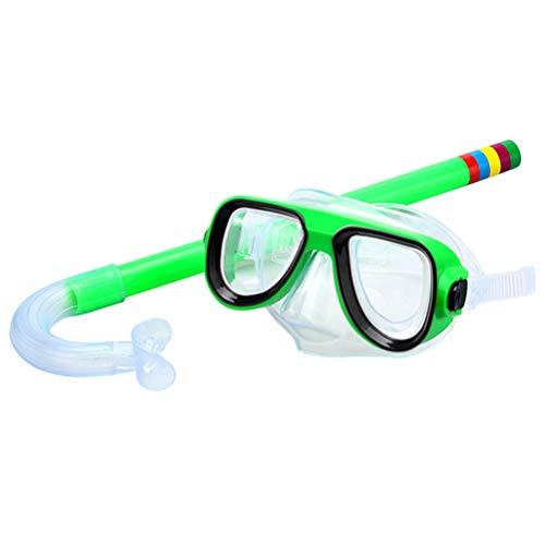 Kinder Schwimmschnorchel-Set Schnorchel Brille Easy Breath Tube Set für Jungen und Mädchen grün