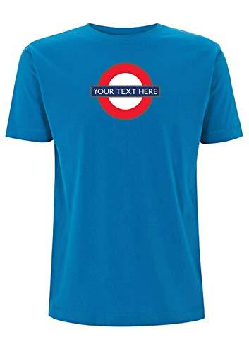 Time 4 Tee London Underground - Camiseta personalizada para tren de transporte británico Azul azul eléctrico M
