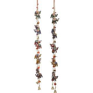 Tuin Van Kunsten Indische Traditionele Opknoping 10 Laag Deur Ophanging, Wandophanging, Decoratieve Ophangen van 56 Inch