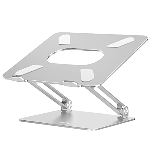 Boyata Laptop Stand, Adjustable Ergonomic Laptop Holder, Aluminium Alloy Notebook Stand Compatible for MacBook Pro/Air, Dell XPS, Lenovo, Samsung Laptops Up to 17 inches-Silver