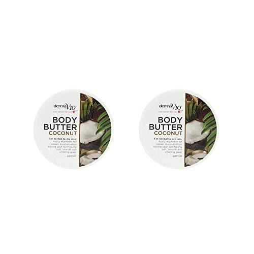 Derma V10 Body Butter 220ml - Paquete de 2 (Coconut)
