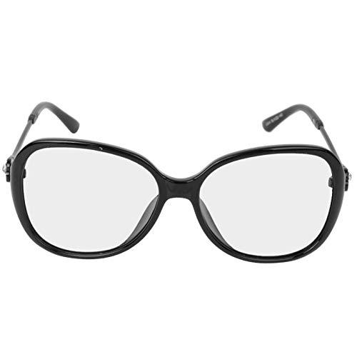 DAUERHAFT Schutzbrille Verfärbende Brille Robuste, langlebige Damenbrille, geeignet für Frauen(Bright Black Frame Discoloration)
