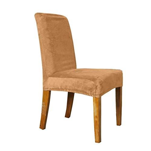 Chair cover Samt Elastische Stuhlabdeckung Massivfarbe Esszimmerstuhl Slipcover Abnehmbarer Anti-Dirty Home Bürositz Stretch Streckstuhlabdeckung Casual ( Color : 07 , Specification : Chair Cover )