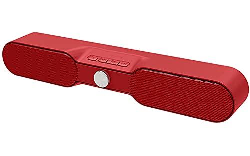 Barra de Sonido, Barra de Sonido para TV, Tarjeta TF/Modos de Entrada AUX/BT para tabletas de PC Laptop de Escritorio Portátil de Alta Potencia Subwoofer de Soni Red