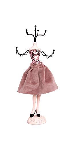 Alice's Collection - Organizador de joyas, collares, pendientes, anillos, tocador, mesa de tocador, soporte de maniquí, expositor de joyas, colgador decorativo para joyas de 33 cm de altura
