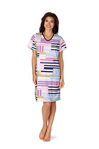 Comtessa Damen Nachthemd V-Ausschnitt Farbe: Marine