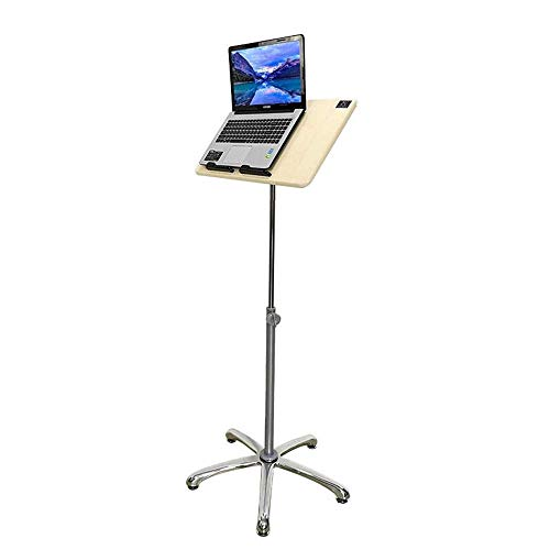 NBVCX Furniture Decoration Jcnfc Stand up Laptop Table Multifunctional Lifting Computer Table Fixed Wheel Medical Tiltable Adjustable Height (Color : Fixed Wheel Size : 79 124cm)