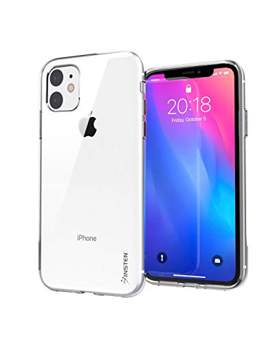 """Compatible with iPhone 11 Clear Case, Insten Crystal HD Ultra Slim Soft TPU Protective Cover Compatible with iPhone 11 6.1"""" 2019 [Reinforced Camera Lens Protection][Support Wireless Charging]"""